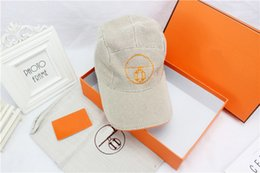 Wholesale h cotton - New packaging high quality fashion H pattern caps outdoor sports leisure baseball cap high-end brand hats designer hat with box