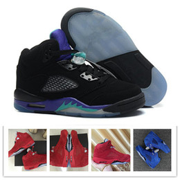 more photos 33781 ec835 Nike Air Jordan 5 AJ5 Retro Cheap 5 scarpe da basket Sneaker 5s V Uomo Donna  Red Suede Oregon Anatre Olympic Grape Raptors Cemento Classic Designer  Brand ...