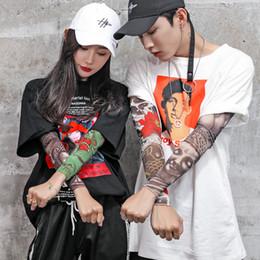 mangas falsas tatuagem para as mulheres Desconto 24 Estilos de Nylon Manga Braço Elástico Tatuagem 3D Impressão Falso Tatuagens Braços Designer de Cobrir Meias de Braço Do Corpo para Cool Men Mulheres 40 * 8 * 8 cm