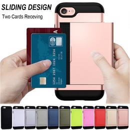 Meilleur cas d'iphone 5s en Ligne-Meilleure vente Porte Carte Slot Wallet Case Antichoc Pour iPhone X 5 5S SE 6 6S 7 8 Plus
