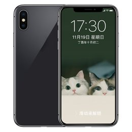 Wholesale Gps Charging - ERQIYU Goophone X Face ID V6 real 4G LTE 64-Bit Octa Core MTK6753 3D Touch GPS Wireless Charging 16.0MP Back Glass Smartphones