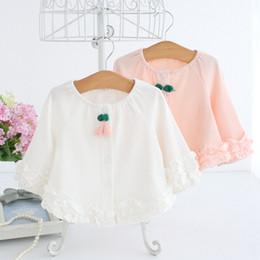 crianças camisa branca atacado Desconto Atacado 5 pçs / lote bebê crianças roupas 2018 primavera crianças roupas longo-luva de renda meninas blusas camisa do bebê 0-2 T rosa branco