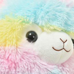 Wholesale girls toys for christmas - For kids toy Cute Rainbow Alpacasso Kawaii Alpaca Llama Arpakasso Soft Plush Toy Doll Gift OTH894