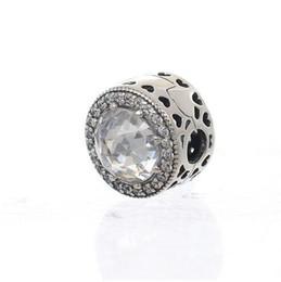 2017 Otoño Original 925 joyería de plata esterlina Clip Clear CZ perla Adecuado para Pandora charm Pulseras Diy Joyería desde fabricantes