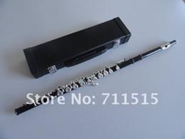 Requintado MARGEWATE Alunos 16 Furos Fechados Mais O E Key Obturator Flauta Instrumento de Música Superfície Preta Banhado A Prata Flauta Chave de Fornecedores de taiwan c