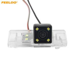 le luci citroen c4 hanno condotto le luci Sconti Feeldo CCD auto telecamera posteriore con luce LED per Nissan QASHQAI / X-TRAIL / Geniss / soleggiato / Pathfinder / Citroen C4 / C5 # 4707