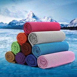 Wholesale Instant Heating - 30*90cm Microfiber Reusable Instant Cooling Cold Chill Heat Relief Sports Towel Motorcycle Apparel Outdoor Magic Scarves AAA403