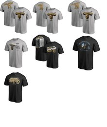 Camisetas occidentales online-NHL Western Conference Champions Vegas Golden Knights camiseta Karlsson FLEURY NEAL nombre y número Tee