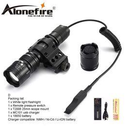 AloneFire TK104 CREE L2 LED linterna táctica Caza al aire libre Camping Linterna montaje de bicicleta control remoto para 1 x 18650 batería desde fabricantes