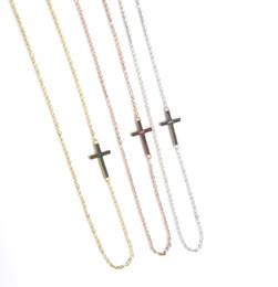 7d48fcbe64b5 2019 colgante plateado de plata 100% 925 Sterling Silver siedway collar  cruzado delicado de cadena