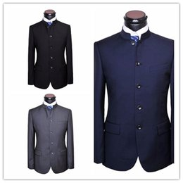 8d27e0a6a8 Custom Made Men Chinese Tunic Suit jacket New Arrival fashion Formal High  Quality Blazer Suits For Men suit jacket chinese formal suit men on sale