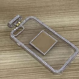 Wholesale luxury cell phone cases diamonds - Fancy Cell Phone Cases for Iphone 8 7 6s 6 plus Diamond Perfume Bottle Phone Accessories Anti Gravity Lady Luxury Women Case