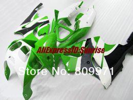 K253 Carenatura bianca verde moda per KAWASAKI Ninja ZX7R 96-03 ZX-7R1996-2003 ZX 7R 96 97 98 99 00 01 02 03 1996 2003 da kawasaki zx7r scorrevoli verde bianco fornitori