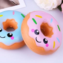téléphone face au pain Promotion Dessin animé sourire Visage Donut Squeeze Squishy Slow Rising Phone Strap DIY Décor Parfumé Charme Bread Cake Kid Jouets
