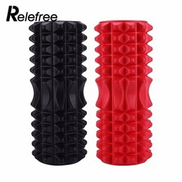 Wholesale Fitness Foam Roller Exercises - Relefree Yoga Pilates Fitness Foam Roller Yoga Column Train Gym Massage Grid Trigger Point Therapy Exercise Fitness Equipment