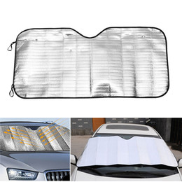 Wholesale Front Window Sunshade - 1PC 2017 HOT NEW Applied Foldable Car Windshield Visor Cover Block Front Rear Window Sunshade Protect Car Window Film Sunscreen