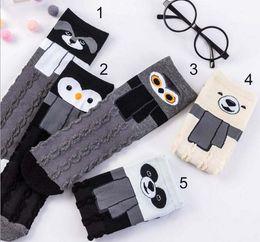 calcetines largos diseños Rebajas 5 estilos Caliente de alta calidad largo Estéreo búho calcetines de diseño Calcetines de algodón Unisex Plantlife Calcetines