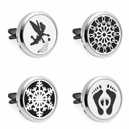 Wholesale Heart Locket Design - Flying fairy design Car Air Vent Freshener Essential Oil Diffuser Locket Car Electronics Accessories with 10pcs free pads