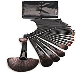 Wholesale Horse Kits - 32 makeup brush set black horse hair makeup tools professional makeup brush set beauty tools