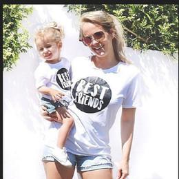 2020 camisas da harmonização da mamã do bebê Mamãe Mamãe e Filha Roupas Pijamas Irmã Melhores Amigos T Shirt Mamãe e Me Roupas Bebê Camisa Família Combinando Menina Set camisas da harmonização da mamã do bebê barato
