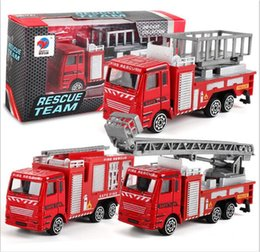 Wholesale Model Bus Toys - 150pcs  Diecast Metal Alloy Car Model Inertia Toys Car Model Alloy Head+ABS BODY Military Engineering Firefighting City 12 Styles