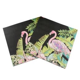 Wholesale wholesale printed paper napkins - Flamingo Paper Napkin printing napkins Tissue For Party Decoration 33cm*33cm 20pcs pack