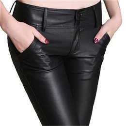 72f26161c415c  Guoran  2017 Winter Warm PU Leather Pants Slim Skinny Pencil Pants Faux  Leather Trousers Plus Size Black Leggings Femme