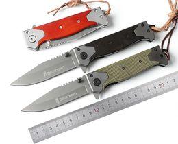 Wholesale Oem Browning Folding Knife - Semior Browning B60 OEM EDC 5CR15 Titanium Coating Folding Pocket Blade Wood G10 Handle Outdoor tool Hiking Camping Hunting knives knife