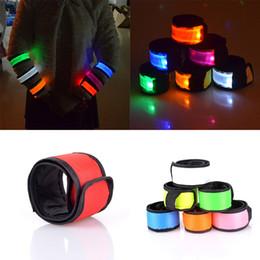 Wholesale flashing led armbands - LED Sports Slap Wrist Strap Flash Wristband Glowing Bracelet Party Concert Armband LED Flashing Toys C3318