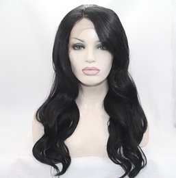 Wholesale Fantasy Bodies - Fantasy Beauty Half Hand Tied Synthetic Lace Front Wigs Body Wave Long Hair Heat Resistant Fibers Glueless 150% Density Nature Hairline