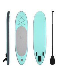 Soportar inflable online-Surfing Sports 300 * 75 * 15cm Tabla de surf inflable Stand Up Up Paddle Board Tabla de surf inflable con mochila Bomba de mano