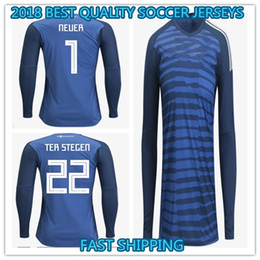 Wholesale Goalkeeper Long Sleeve - 2018 GERMANY soccer jersey long sleeve muller NEUER TER STEGEN 18 19 SHORT sleeve OZIL sane WERNER Goalkeeper NEUER football uniform shirts