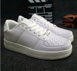 Wholesale Black Air Force Ones - New Forces Trainers Men Women Sneakers Air Low Cut White Black Casual Outdoor One 1 Dunk Shoes Sport Skateboarding Forces Shoes 36-44
