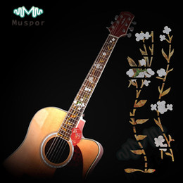 Wholesale Electric Guitar Decals - Flower Guitar Sticker Fret Fretboard Markers Decals for Acoustic   Electric Guitar