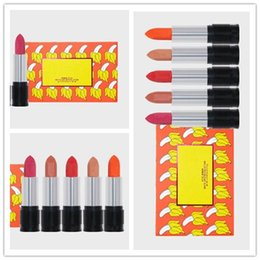 Wholesale wholesale name brands - Newest Hot Brand makeup Matte Lipstick set 5colors Lipstick with Name 5pcs set The Summer Collection Lipset DHL shipping