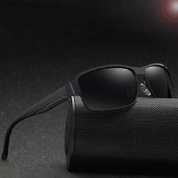4055aa9d68 HOT SALE Exquisite metal polarizer for men driving outdoor sunshade  sunglasses Brand sunglasses top quality with box
