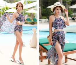 2019 heißer kleiner bikini-anzug 3 Style Hot Spring Badeanzug dreiteiliger Split-Bikini mit hoher Taille Ms. Koreanischer kleiner frischer konservativer Badeanzug rabatt heißer kleiner bikini-anzug