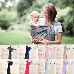 Wholesale Horizontal Baby Carrier - 8 color New Baby Cotton Carriers Ring Slings Toddler Infant Comfortable Breathable Loop Sling Baby Multifunctionalback Towel Strap