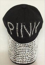 8 Fotos Gorras de la señora en venta-LOVE PINK Letter Mujeres Gorras de  béisbol Ladies Glitter 7a8073e2f5f