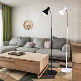 Wholesale floor reading lamps - Nordic Modern Minimalist Creative Floor Lamp Study Bedroom Living Room Floor Lamp Reading Remote Control Led Dimming Light