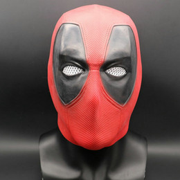 Film della maschera di faccia online-Superhero Movie Latex Mask Deadpool 2 Marvel Deadpool Maschere Full Face Maschera di Halloween Latex Adulto Scary Party Maschere Cosplay Puntelli