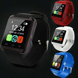 Reloj de pulsera u8 online-Hot U8 SmartWatch Touch screen with SIM Card Slot GT08 A1 DZ09 WristWatch for Android Phone Smartphones Bluetooth Smart Watch