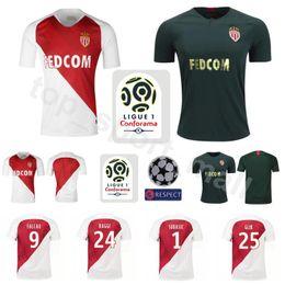 2018 2019 AS Monaco Jersey Men Ligue 1 Soccer 9 FALCAO 10 JOVETIC 17  GOLOVIN 24 RAGGI 1 SUBASIC Football Shirt Kits Uniform e01691ee9