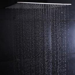 2019 grande doccia di pioggia Soffione a pioggia a soffitto 304SUS Big Rain Shower Bagno 20 pollici pannello senza docce a LED con 4 bracci sconti grande doccia di pioggia