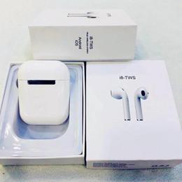 Хорошее качество iphone наушники онлайн-I7 I7S TWS I8 I8X I9S Twins Наушники Наушники Хорошее качество Беспроводные наушники с зарядным устройством Магнит для зарядки для универсального телефона