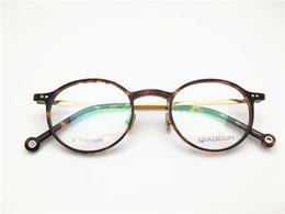 fec3f8d35 Japão marca de alta qualidade mulheres óculos ópticos retro acetato com  templo de titânio ultra-leve lente transparente quadro de alta qualidade