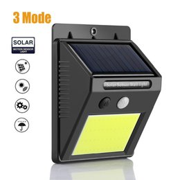 Wholesale outdoor infrared motion - 3 Mode 48 LED Solar Lights for Garden Decoration Human Infrared PIR Motion Sensor Wall Lamp Security Outdoor Lighting Waterproof
