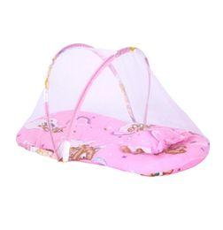 Colchón portátil bebé online-Pequeño Portátil Plegable Bebé Mosquito Net Bebé Infantil Cojín Colchón Almohada Mosquito Net Cama Envío Gratis