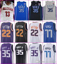 jersey basketball 35 Coupons - College Basketball 2018 Draft Pick 22  Deandre Ayton Jerseys Purple Black ab6ce7f66