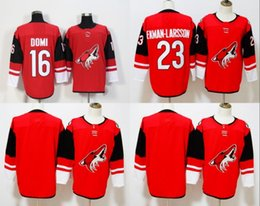Wholesale Blue Coyote - 2018 New Season Arizona Coyotes Ice Hockey #16 Max Domi Jersey Red 23 Oliver Ekman-Larsson 19 Shane Doan Blank Throwback Black White Jerseys